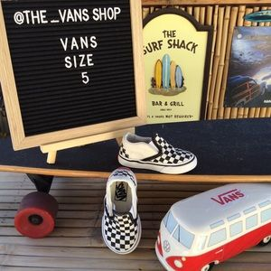 Vans Classic Checkerboard Canvas Slip On Sneakers